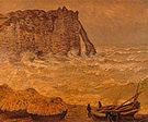Claude Monet Etretat Rough Sea 1883