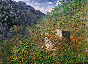 Claude Monet Valley of Saaso Bordighera 1884