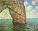Claude Monet The Manneporte tretat High Tide 1885
