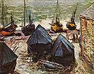 Claude Monet Boats at Winter 1885