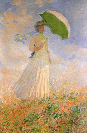 Claude Monet Woman with a Parasol Turned towards the Right 1886
