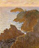 Claude Monet Rocks at Belle Ile 1886