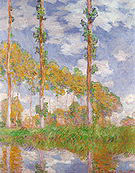 Claude Monet Poplars (Summer) 1891