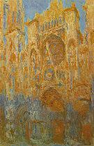 Claude Monet Rouen Cathedral Facade (Sunset) 1892