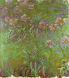 Claude Monet Agapanthus Giverny 1916
