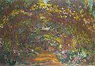 Claude Monet The Path with Rose Trellises 1920