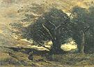 Jean Baptiste Corot A Gust of Wind