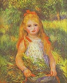 Pierre Auguste Renoir Little Girl Gleaning 1888