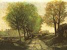 Alfred Sisley Lane near a Small Town 1864