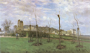 Alfred Sisley View of Montmartre from the cite des Fleurs 1869