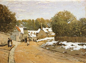 Alfred Sisley Early Snow at Louveciennes 1871