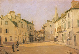 Alfred Sisley Square in Argenteuil Rrue de la Chaussee) 1872