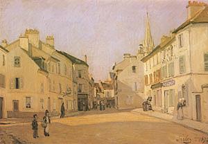 Alfred Sisley Square in Argenteuil Rrue de la Chaussee) 1872