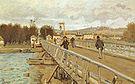 Alfred Sisley Footbridge at Argenteuil 1872