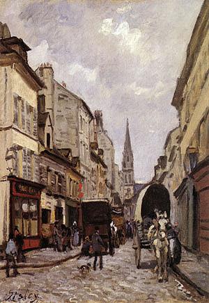 Alfred Sisley La Grande Rue Argenteuil 1872