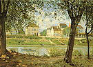 Alfred Sisley Village on the Bank of the Seine (Villeneuve la Garenne) 1872