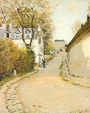 Alfred Sisley Rue de la Princesse Louveciennes (formerly Street in Villed Avray) 1873