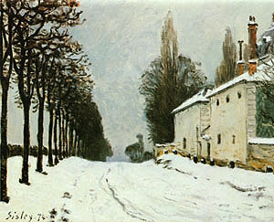 Alfred Sisley Snow on the Road Louveciennes 1874