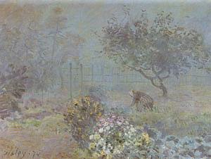 Alfred Sisley Foggy Morning Voisins 1874
