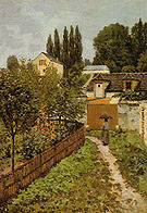 Alfred Sisley Garden Path in Louveciennes 1873