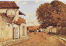 Alfred Sisley Street in Louveciennes (rue de la Princesse) 1874