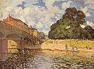 Alfred Sisley Bridge at Hampton Court 1874