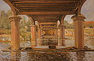 Alfred Sisley Under the Bridge at Hampton Court 1874