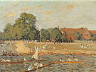 Alfred Sisley Regatta at Hampton Court 1874