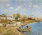 Alfred Sisley Sand on the Quayside Port Marly 1875