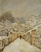 Alfred Sisley Snow at Louveciennes 1875