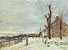 Alfred Sisley Snowy Weather at Veneux Nadon 1880