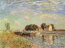 Alfred Sisley The Canal du Loing at St Mammes 1885