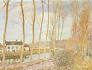 Alfred Sisley The Canal du Loing at Moret 1892