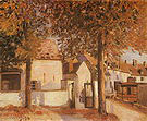 Alfred Sisley View in Moret (rue des Fosses) 1892