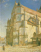 Alfred Sisley The Church at Moret in Morning Sun8 1893