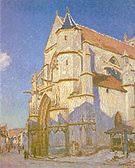 Alfred Sisley The Church at Moret 1894