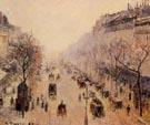Camille Pissarro Boulevard Montmartre Morning, Sunlight and Mist 1897