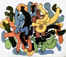 Fernand Leger Big Black Divers 1944