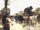 Childe Hassam April Showers Elysees, Paris, 1888