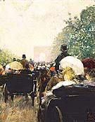 Childe Hassam Carriage Parade, 1888