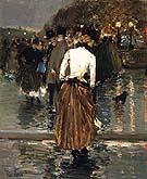 Childe Hassam Promenade at Sunset, Paris, 1888-89.