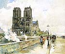 Childe Hassam Notre Dame Cathedral, Paris 1888.