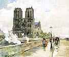 Childe Hassam Notre Dame Cathedral, Paris 1888.