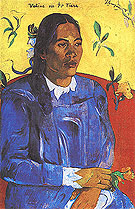 Paul Gauguin Woman with a Flower (Vahine No Te Tiare) 1891
