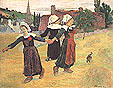 Paul Gauguin Breton Girls Dancing Pont-Aven 1888