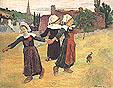 Paul Gauguin Breton Girls Dancing Pont-Aven 1888