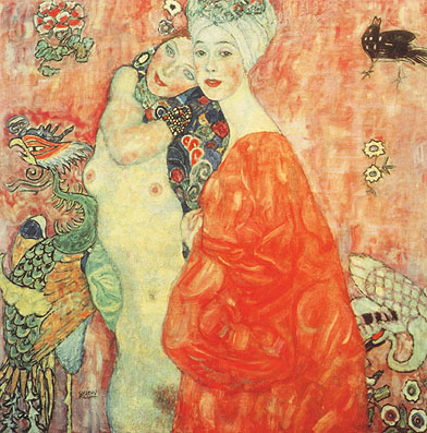 Gustav Klimt The Girl Friends 1907