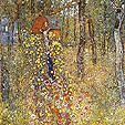 Gustav Klimt Farm Garden With Crucifix