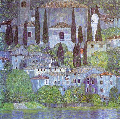 Gustav Klimt The Church in Cassone