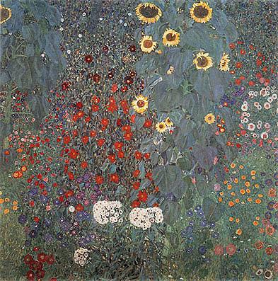 Gustav Klimt Farm Garden With Sunflowers